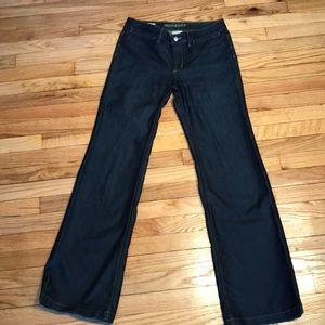 Banana Republic Jeans wide stretch metallic dark